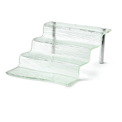 Four Step Waterfall Riser from the Cristal Collection - Cater-Connect