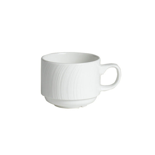 Spyro Cup White Stackable 21.25cl (Pack Of 36) - Cater-Connect