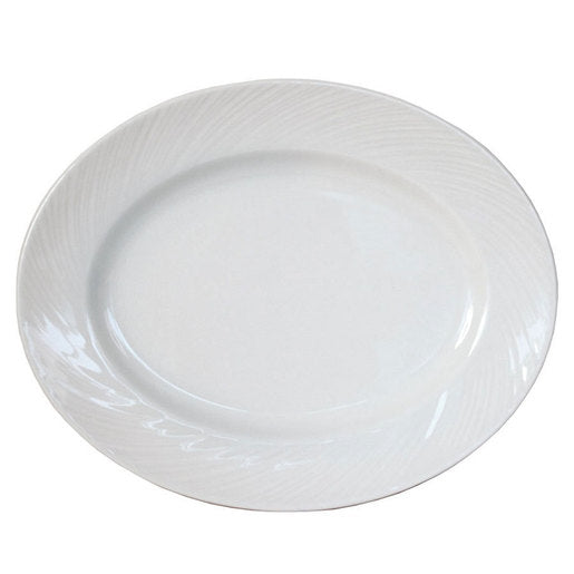 Spyro Plate Oval White 33cm (Pack Of 12) - Cater-Connect