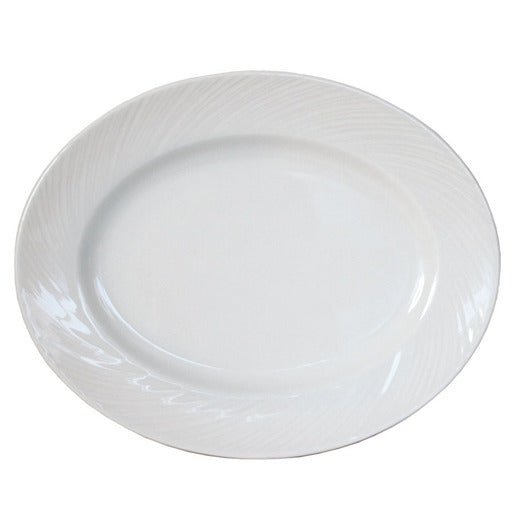 Spyro Plate Oval White 28cm (Pack Of 12) - Cater-Connect