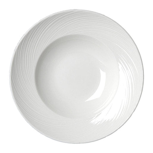 Spyro Nouveau Bowl White 27cm (Pack Of 6) 2 Sizes Available - Cater-Connect