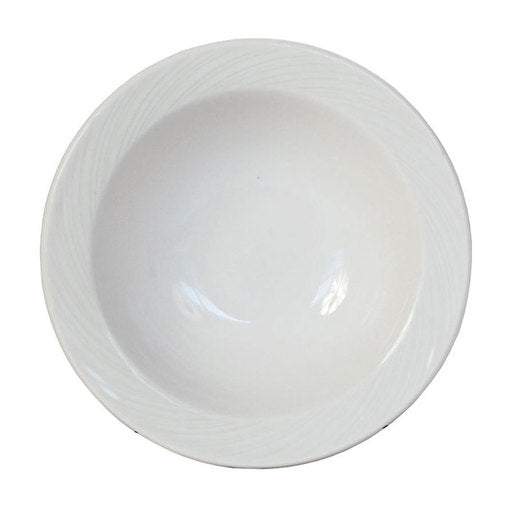 Spyro Bowl Stone Rim White 13.5cm (Pack Of 6) - Cater-Connect