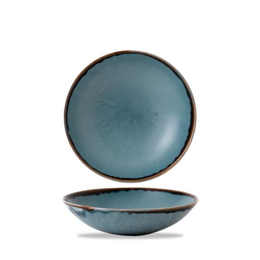 Harvest Blue Evolve Coupe Bowl 24.8cm 9 3/4 inch (Pack Of 12)