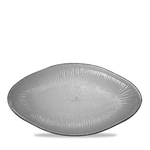 Dusk Glass Oval Bamboo Platter 30Cm - Cater-Connect
