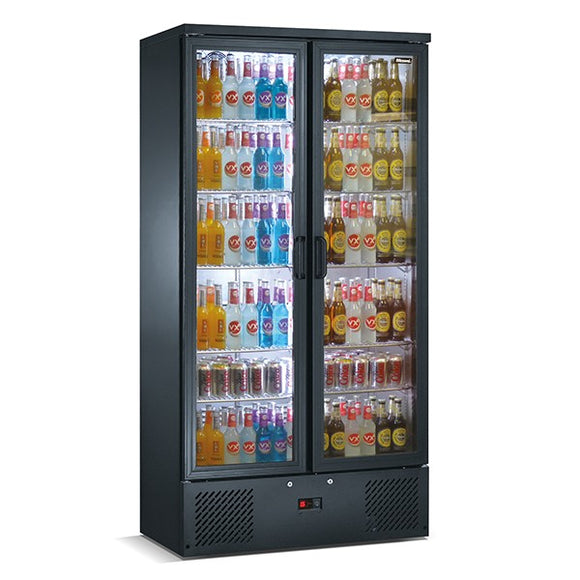 Blizzard Upright Double Door Bar Bottle Cooler (492 Bottles)