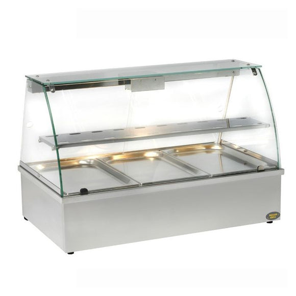 Roller Grill BMV3 Bain Marie with Display Cabinet