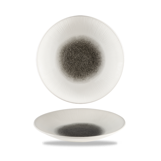Raku Quartz Black Bamboo Deep Coupe Plate 10.6 inch (Pack Of 12) - Cater-Connect