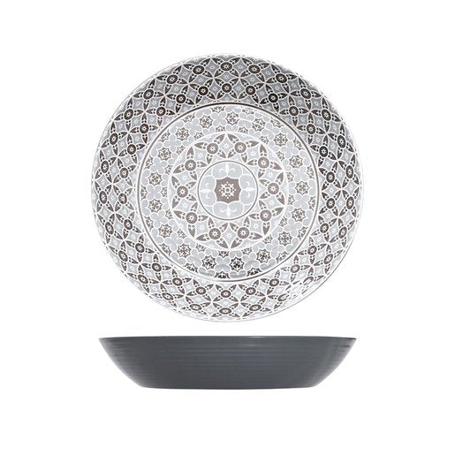 Grey Moroccan Marrakesh Bowl Dia 425 x 80mm (Pack Size 3) - Cater-Connect