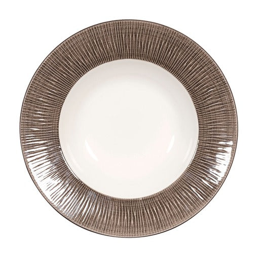 Bamboo Spinwash Dusk Deep Coupe Plate 9 7/8 Inch (Pack Of 12) - Cater-Connect