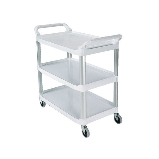 Rubbermaid X-tra  Utility Trolley 3 Tier White Frame - Cater-Connect
