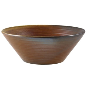 GenWare Terra Porcelain Rustic Copper Conical Bowl 19.5cm