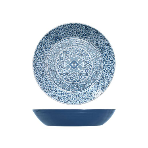 Blue Moroccan Marrakesh Bowl Dia 425 x 80mm (Pack Size 3) - Cater-Connect