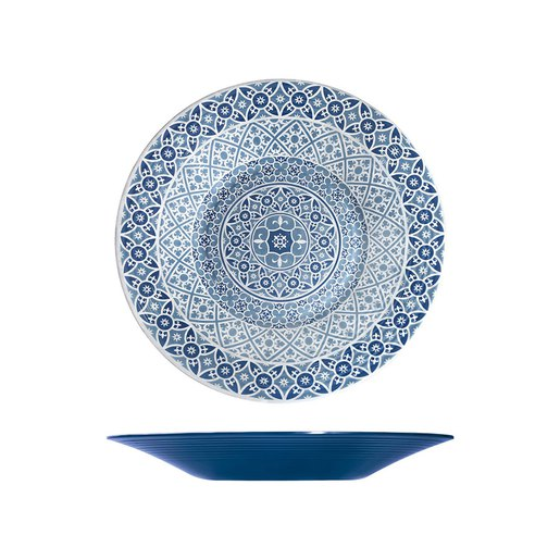 Blue Moroccan Marrakesh Bowl Dia 480 x 60mm (Pack Size 3) - Cater-Connect