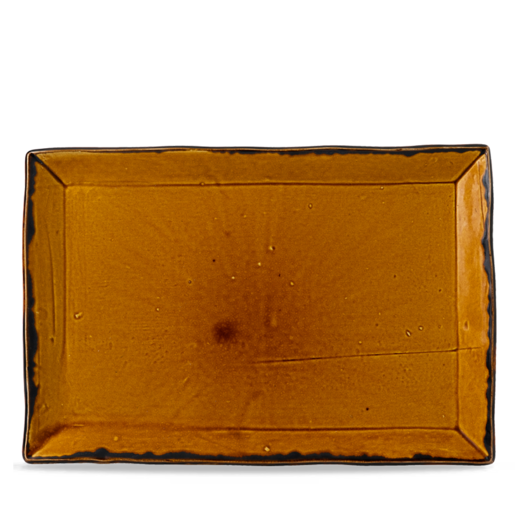Harvest Brown Large Rectangular Tray 23cm (Pack Of 6)