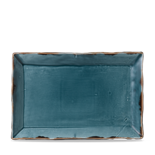 Harvest Blue Small Rectangular Tray 19.2cm (Pack Of 6)