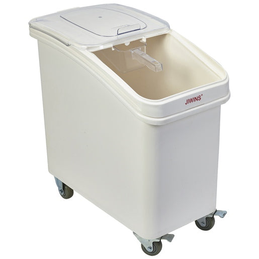 Polypropylene Mobile Ingredient Bin with Scoop 102L - Cater-Connect