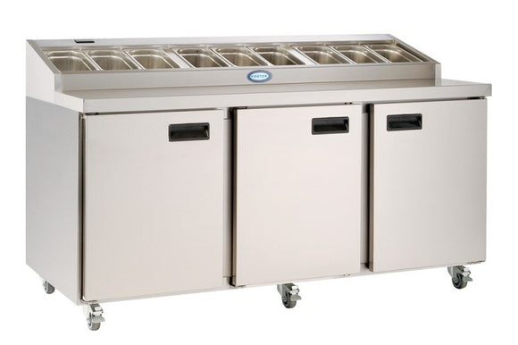 Foster FPS3HR 3 Door Refrigerated Prep Counter 420 Litres