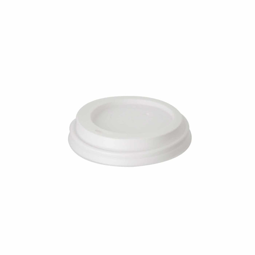 Disposable White Hot Cup Lid 8oz / 240ml