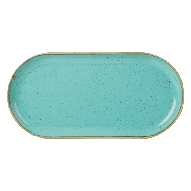 "Porcelite Seasons Sea Spray Narrow Oval Plate 32x20cm/12.5x8"" (Case Size 6)"