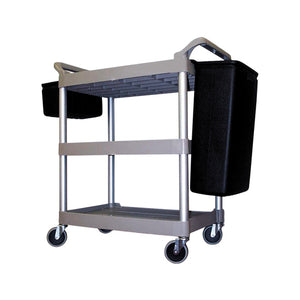 Rubbermaid Utility Trolley 3 Tier Platinum Frame - Cater-Connect