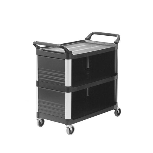 Rubbermaid X-Tra Utility Cart closed 3 sides - Cater-Connect
