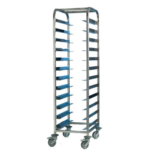 Tray Clearing Trolley 1 x 12 Tray - S/S Frame - Cater-Connect
