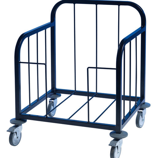 Tray Pick-Up Trolley -100 Tray - Black Frame - Cater-Connect