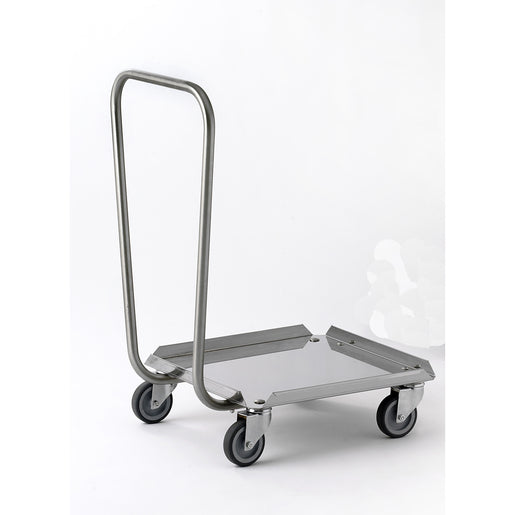 Tournus Rack Dolley with Handle - all Stainless Steel - Cater-Connect
