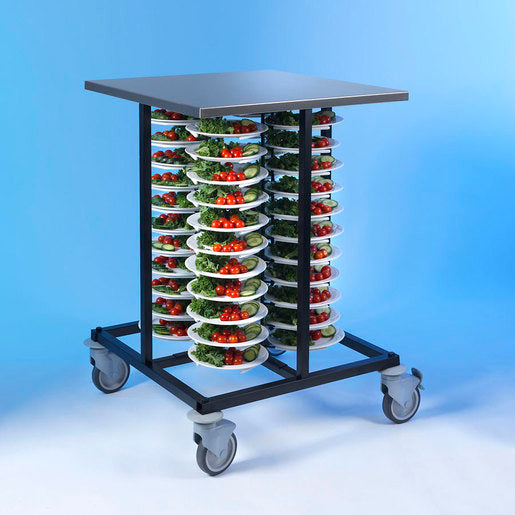 Plate Stacking Trolley 48 Plates 600x600x1000mm - Cater-Connect