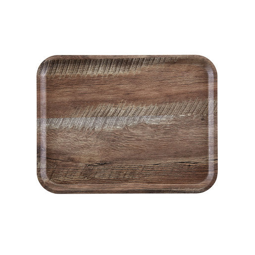 Cambro Dark Oak Wood Effect Tray 36 x 46cm - Cater-Connect