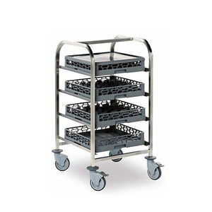 E A I S Dishwasher Basket Trolley 4 Tier - Cater-Connect