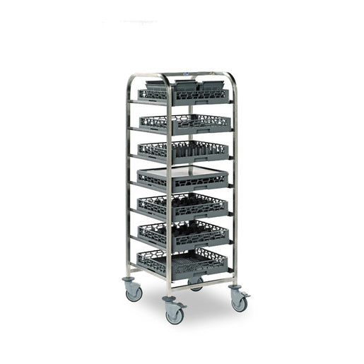 Dishwasher Basket Trolley 7 Tier - Cater-Connect