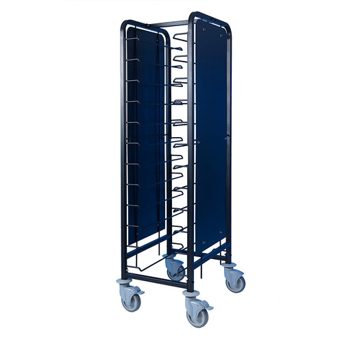 Tray Clearing Trolley 1 x 12 Tray - Black Frame - Cater-Connect