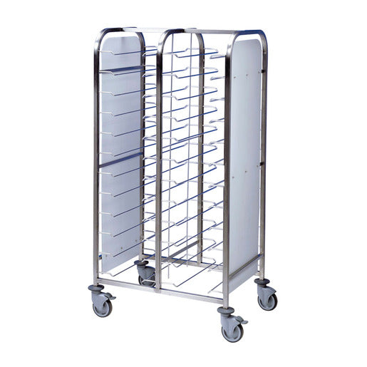 Tray Clearing Trolley 2 x 12 Tray - Black Frame - Cater-Connect