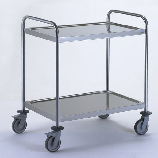 Clearing Utility Trolley with 2 Handles - 2 Tray 800x530mm - Cater-Connect
