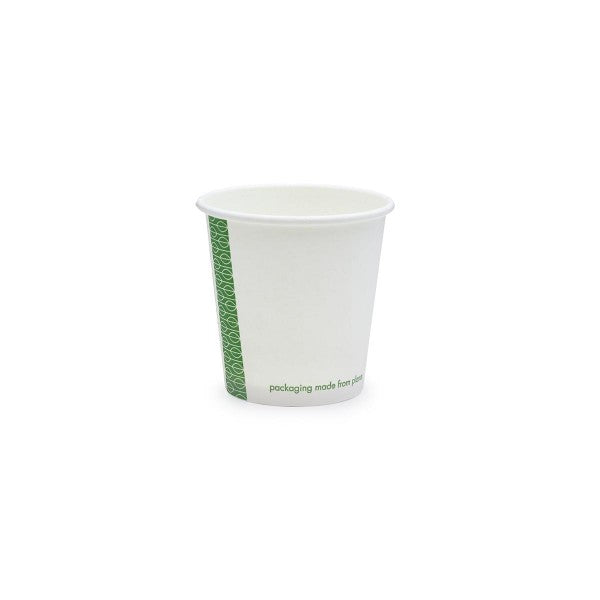 Vegware 72-Series 6oz White Single Wall Hot Cup