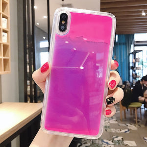 Case para iPhone XR XS max X 6 7 8 plus que brilha no escuro