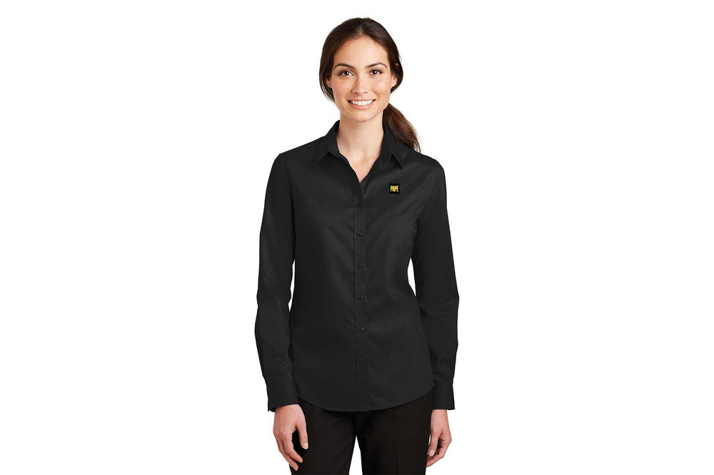 Load image into Gallery viewer, Port Authority Women's SuperPro Twill Shirt