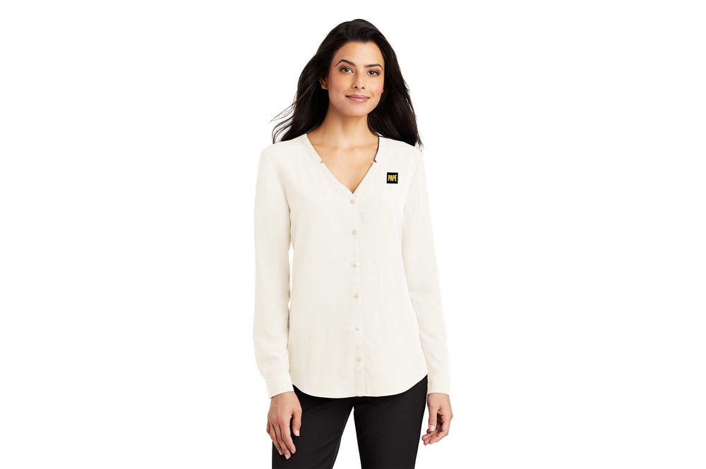 Port Authority Women's Long Sleeve Button-Front Blouse