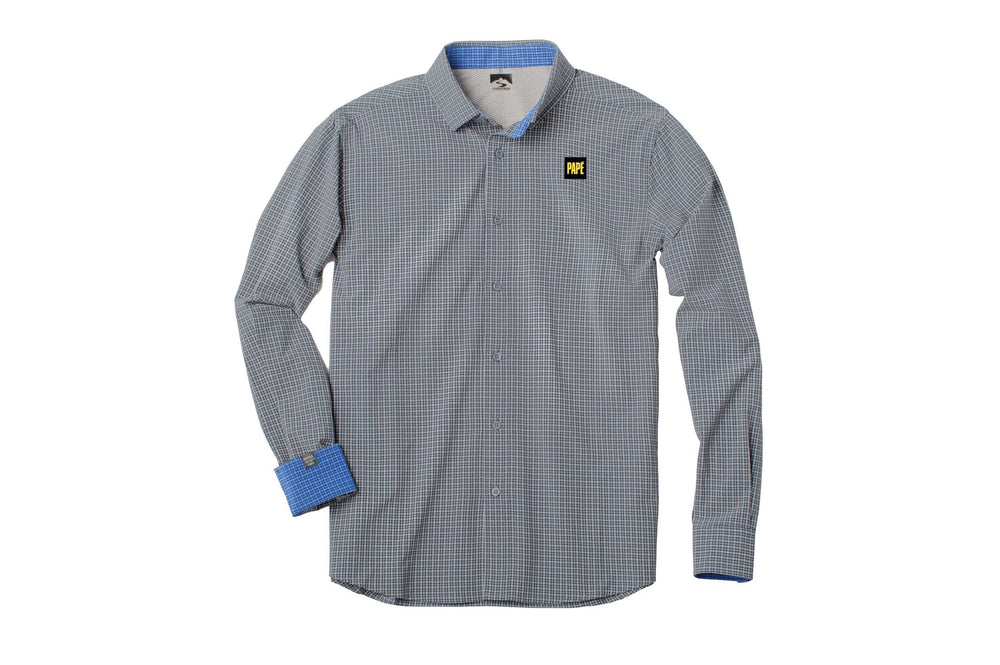 Load image into Gallery viewer, Men's 4-Way Stretch Eco-Woven Tonal Check Shirt