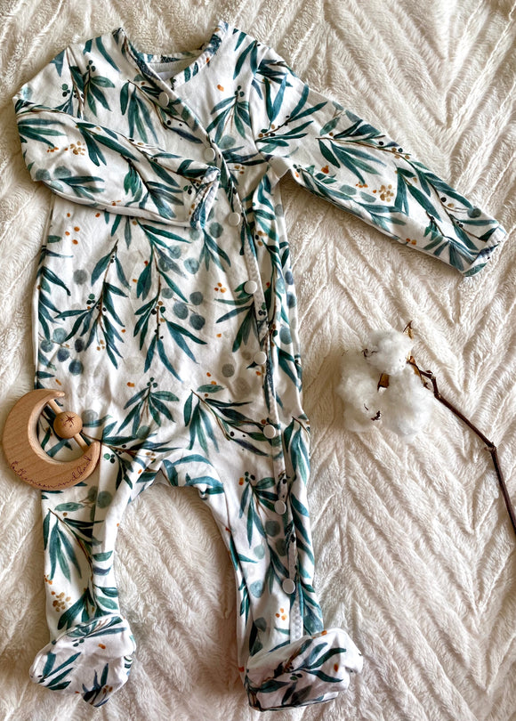 Organic Cotton Sleepsuit - Weeping Gum