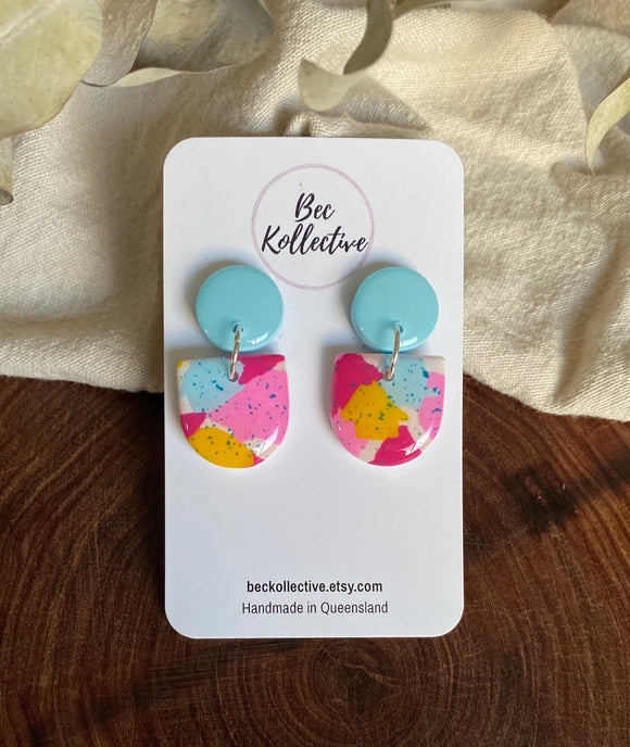 Bella Drops - Pink, Blue, Yellow & Speckle