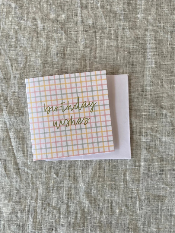 Birthday Wishes Gingham Mini
