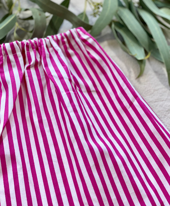 Simple Skirt - Pink Stripes