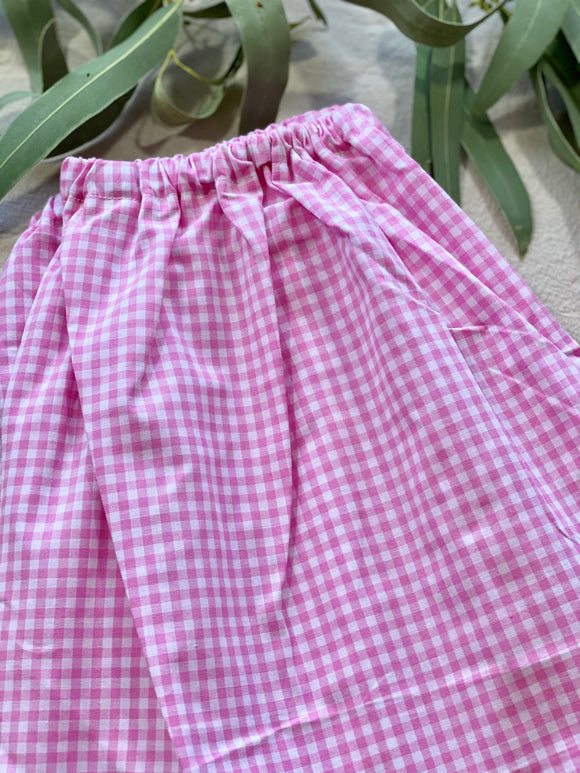 Simple Skirt - Pink Gingham