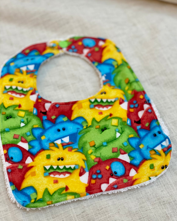 Baby Bib - Monsters