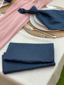 Pure Linen Napkins 6pk - Navy Blue
