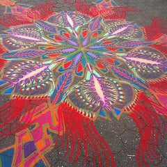 Joe Mangrum Sand paintings