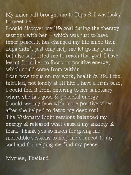 The Visionary ART Workshop Singapore review testimonial, Dipa Ein Siak, healing arts.