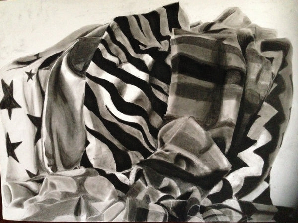 Drapery in Charcoal by Becky Shi